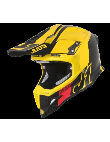 casco moto cross JUST 1 J12 syncro carbon ylw matt 34sx vendita online Como