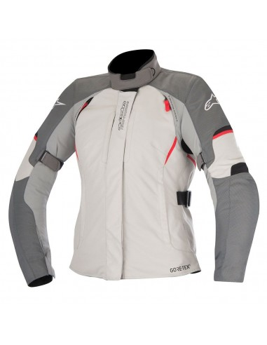 giacca moto alpinestars stella ares gore tex jacket dark gray light gray red vendita online Como