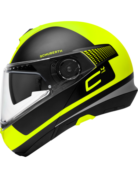 casco moto modulare schuberth C4pro legacy yellow