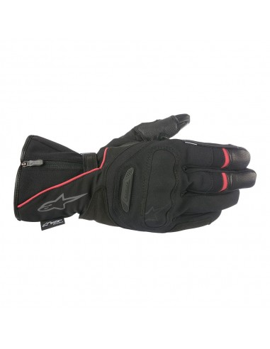 guanti moto alpinestars primer drystar black red