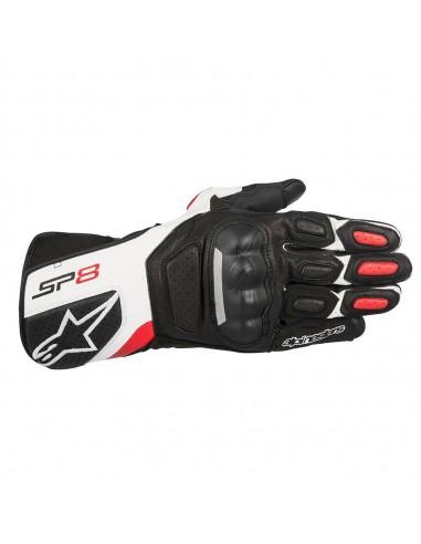 guanti moto alpinestars sp 8 v2 black white red vendita online Como