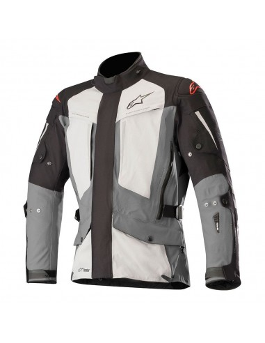 giacca moto alpinestars yaguara drystar jacket  tech air compatible black dark gray mid gray vendita online Como