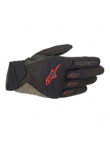 guanti moto alpinestars shore black red vendita online Como