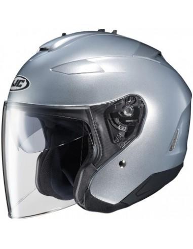 casco-moto-jet-HJC-IS-33-2-Solid-Silver-Side