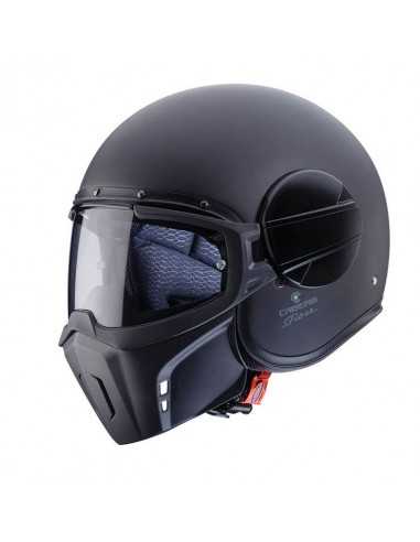casco moto jet CABERG Ghost nero opaco vendita online Como