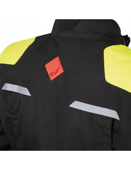Giacca moto TUR J-two nero giallo fluo vendita online Como