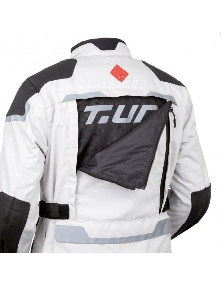 Giacca moto TUR J-two-grigio-nero