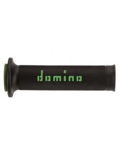 DOMINO Coppia manopole domino snake verde-nero Manopole Moto // Couple handle grips domino snake green-black Knobs Motorcycle