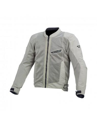 acquisto economico 70242 e90dd giacca moto traforata MACNA Velocity grigio chiaro